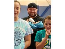 Coach Matt lending a hand with the child development class!