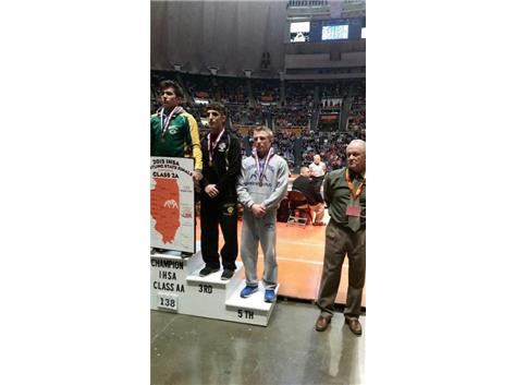 Congratulations to Brandon Peshek for his 5th place finish at the IHSA State Wrestling Championships!