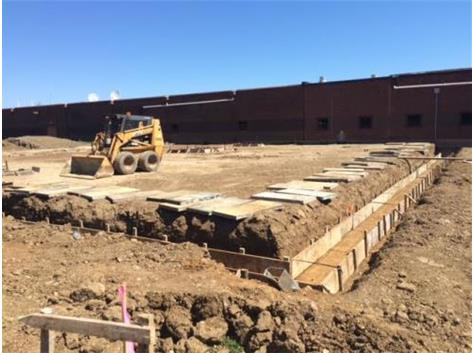 Construction - Footings for  the new classrooms