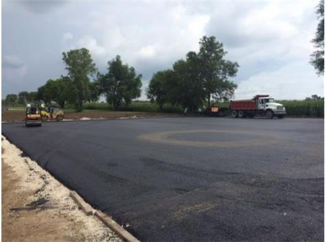 Paving for the new two tennis courts