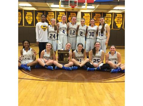 CONGRATULATIONS TO THE GIRLS BASKETBALL TEAM FOR WINNING THE CARMEL REGIONAL