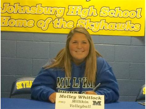 Congratulations to Molly Whitlock who will continue her education and volleyball career at Millikin University.