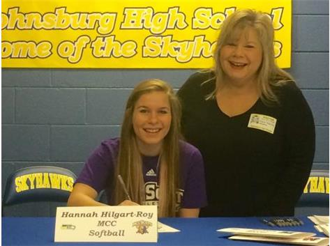 Congratulations to Hannah Hilgart-Roy who will continue her education and softball career at McHenry County College.