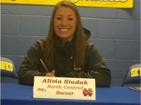 Congratulations to Alivia Siudak who will continue her education and soccer career at North Central College.