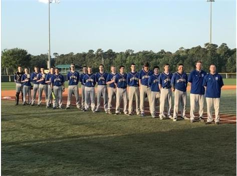 Varsity Baseball during the National Anthem while playing in Orlando at ESPN Wide World of Sports.