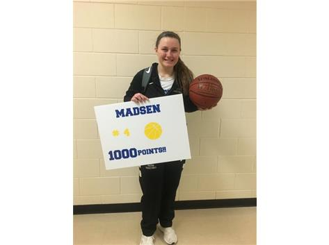 Megan hits 1000 career points!