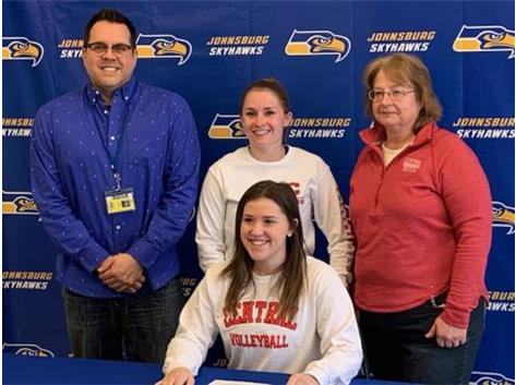 Continuing her volleyball career at Central College!