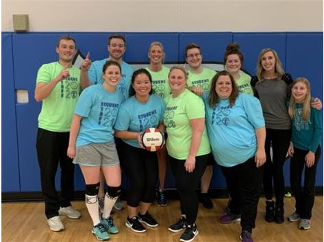 Staff wins Staff v Student volleyball game!