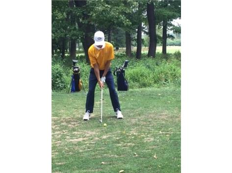 Tommy Teeing off against Elmwood Park