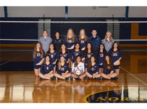 2018 Girls Varsity Volleyball.  Go Eagles