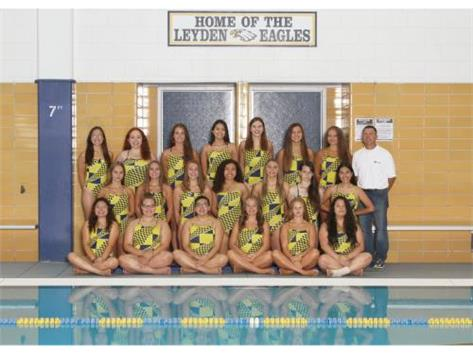 2018 Girls Varsity Swimming.  Go Eagles