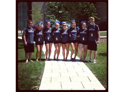Seniors at Cheer Camp in Kenosha.