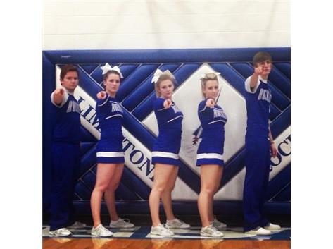 Senior Cheerleaders, Stephen Staley, Sammi Contoni, Rebekah Schultz, Sara Stear and Connor Peacock show their serious side.