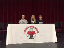 College Signing Day - Kaelyn Froebe to McKendree University, Alex Downing to Lincoln College, Blake Jones to University of Illinois at Springfield