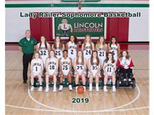 Girls Sophomore Basketball Team 2018-19