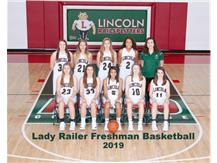 Girls Freshman Basketball Team 2018-19