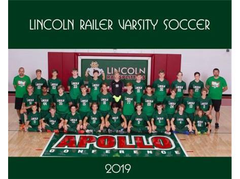 Boys Varsity Soccer Team 2019
