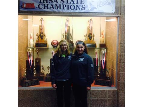 Skye Palumbo & Gina Odisho 2015 IHSA Girls Tennis State Qualifiers