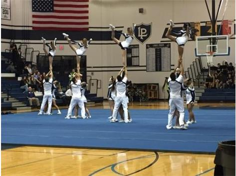 LP Cheer Performs at Boys Basketball Game vs. WWS