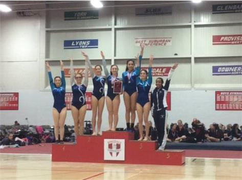JV Girls Gymnastics 2015 Hinsdale Central Invite Champs