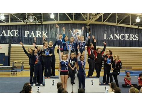 JV Girls Gymnastics LP Invite Champs