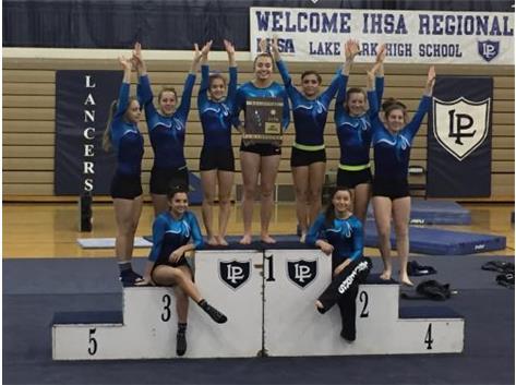 Girls Gymnastics 2016 IHSA Regional Champions