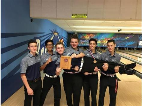 LP Boys Varsity Bowling 3rd Place 2016 Plainfield North Invite