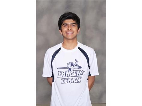2018 Boys Tennis - Aayush Patel:  All Conference