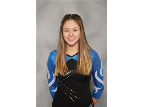 2019-2020 Girls Gymnastics - Olivia Perez, Regional and Conference Champion Floor Exercise