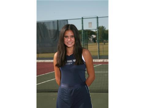 2020-2021 Girls Tennis Varsity: Analisa Cruz, DKC 1st Singles Champion, All Conference
