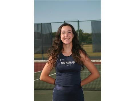 2020-2021 Girls Tennis Varsity - Angela Pasquini, Honorable Mention