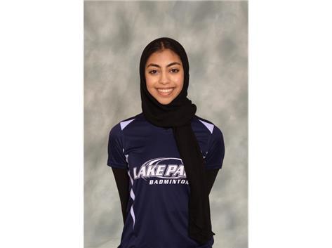 2020-2021: Girls Badminton - Zahra Bhojani: State Qualifier