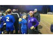 Morgan and Mercedes celebrating first win!