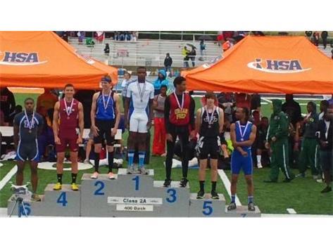 5th Place 400 m Dash