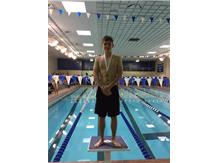 Marcin Nieradka finishing 2nd in the White Division of the Maine East Demon Invite in Diving
