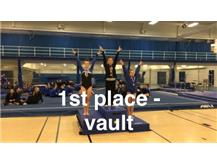Afroditi Baltsas - 1st Place, Vault at Wheeling Invitational