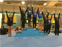 Yaneysa Rodriguez - 6th Place, Jessica Espinoza - 7th Place, JV Floor Exercise at Maine West Invite