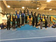 Afroditi Baltsas - 1st Place, Giselle Mendoza - 4th Place, Tiffany Russotto - 9th Place, Varisty Vault at Maine West Invite