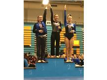 Afroditi Baltsas - 1st Place, Varsity All-Around at Maine West Invite