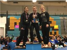 1st Place Overall, Varsity Vault at Maine West Invite (Giselle Mendoza, Afroditi Baltsas, Tiffany Russotto)