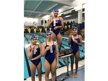 Karla Perez, Ariel Aguilera, Rianca Argenal, and Simona Zlatkova place 3rd in the Freshman 200 Yard Relay!