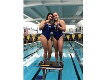Jasmine Lopez and Jordan Oslowski place 2nd in the Varsity 100 Yard Fly Relay!