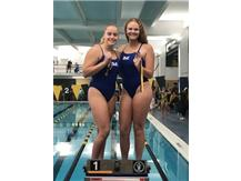 Jordan Oslowski and Alyssa Klug place 1st in the Varsity 100 Yard Backstroke Relay!