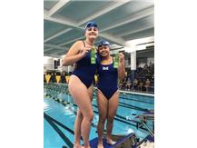 Jessica Domian and Rianca Argenal place 5th in the Varsity 100 Yard Breast Relay!