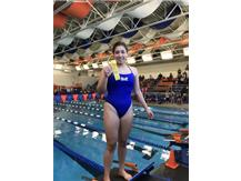 Jasmine Lopez places 4th in the 100 Yard Butterfly!