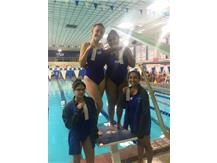 Nives Ramich, Ariel Aguilera, Jiral Modi, and Krina Shah place 3rd in the JV 200 Yard Medley Relay!