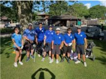 The 2021 ME golf team at the 2021 Leyden Invite