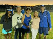 2nd place finisher, Lukasz Iwanowski with Coach Poulos, his parents and  Coach Peters.