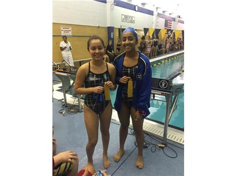 Krina Shah, and Jessica Espinoza finishing fourth in the 200 Yard Medley Relay.
