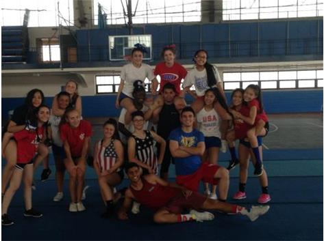 Red, white, and blue themed practice.